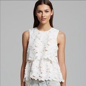 Anthropologie | Dolce Vita White Layered Lace Top